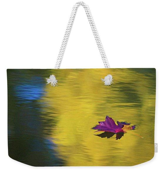 Crimson And Gold Weekender Tote Bag