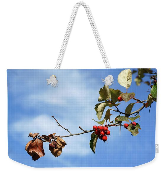 Crimson Berries Weekender Tote Bag