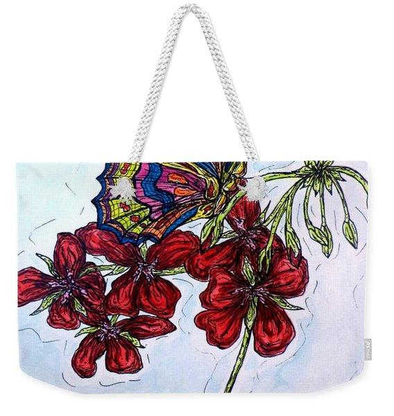 Crimson Fancy Weekender Tote Bag
