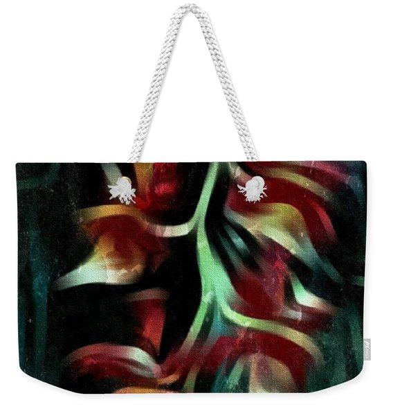 Crimson Flow Weekender Tote Bag