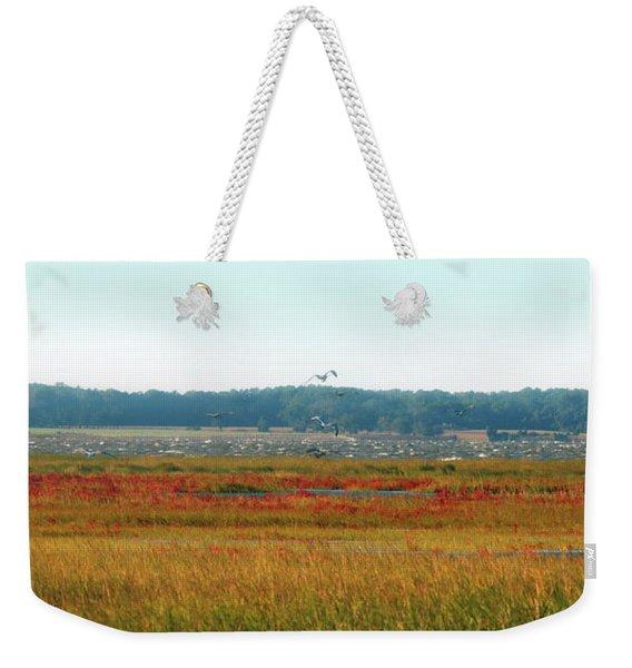 Crimson Marsh 2 Weekender Tote Bag