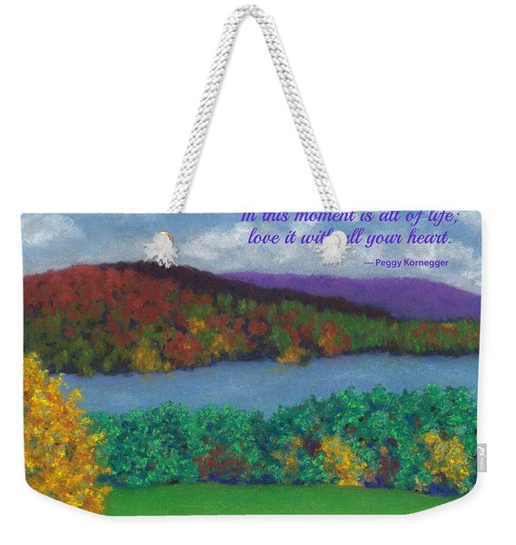 Crisp Kripalu Morning - With Quote Weekender Tote Bag