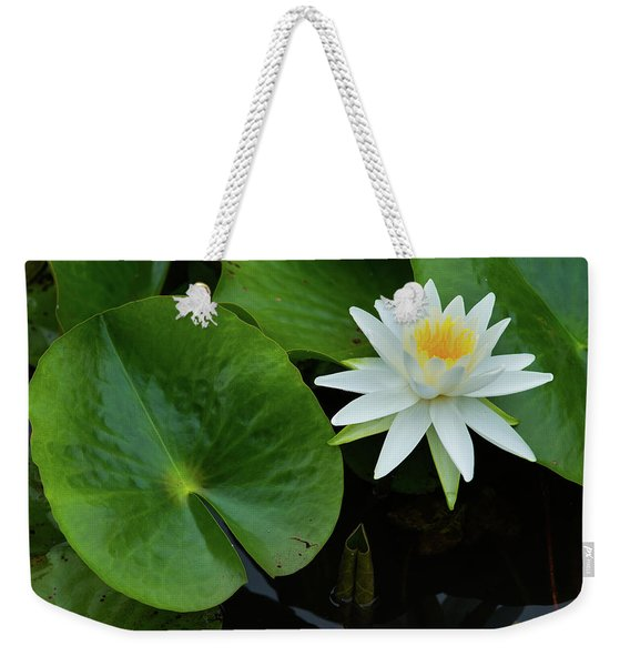 Crisp White And Yellow Lily Weekender Tote Bag