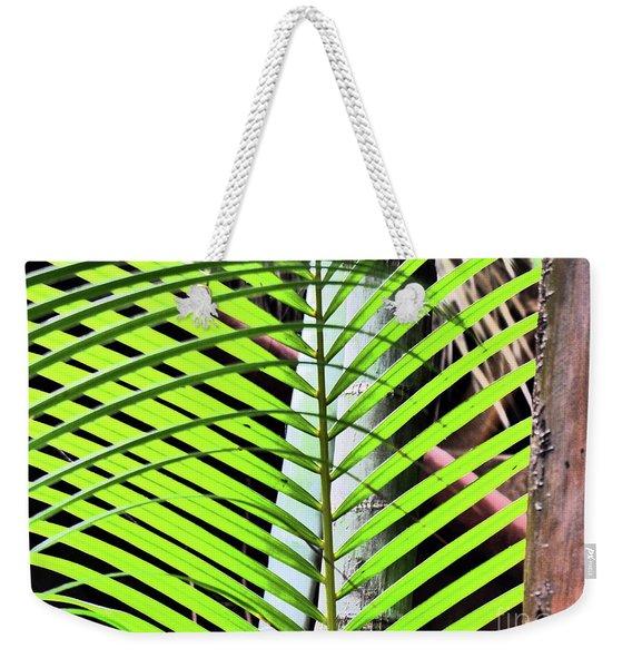 Crisscrossing Palms Weekender Tote Bag