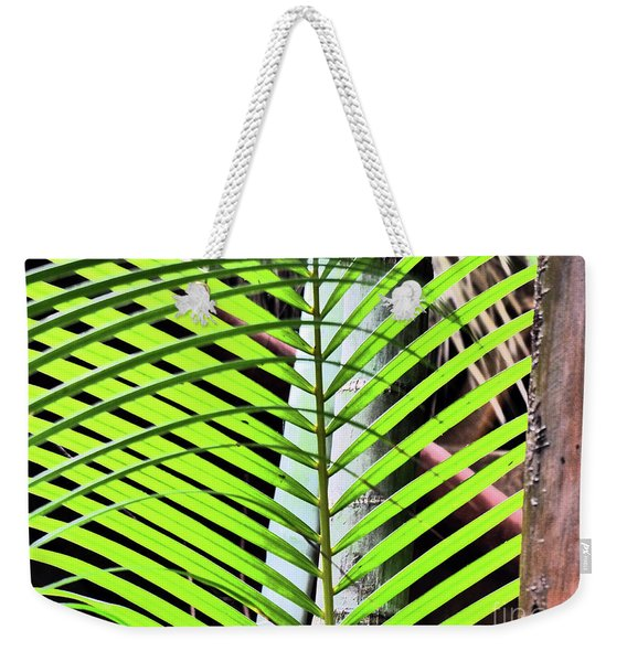 Crisscrossing Palms Weekender Tote Bag