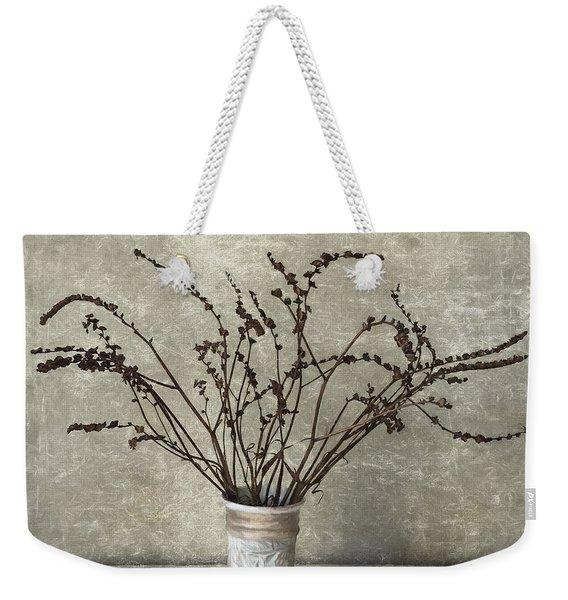 Crocosmia Seed Pods Weekender Tote Bag