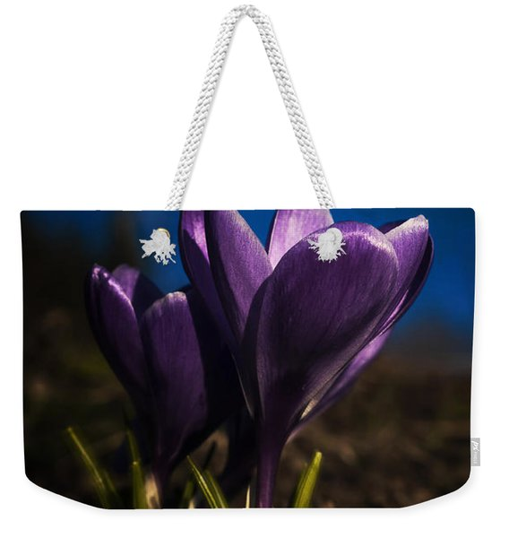 Crocus Moon Weekender Tote Bag