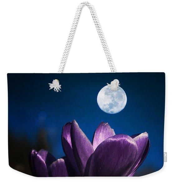 Crocus Moon Weekender Tote Bag