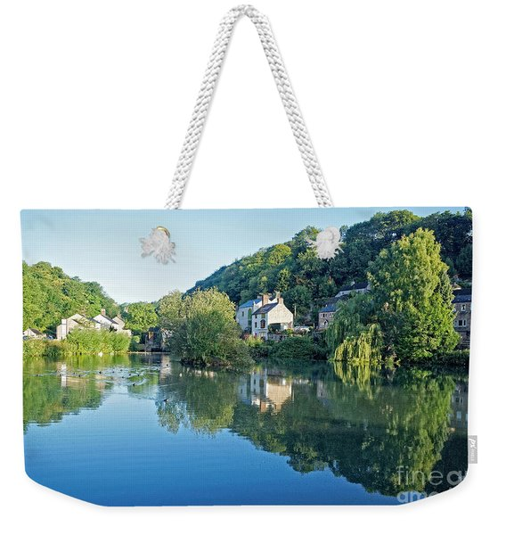 Cromford Millpond, Derbyshire, U.k Weekender Tote Bag