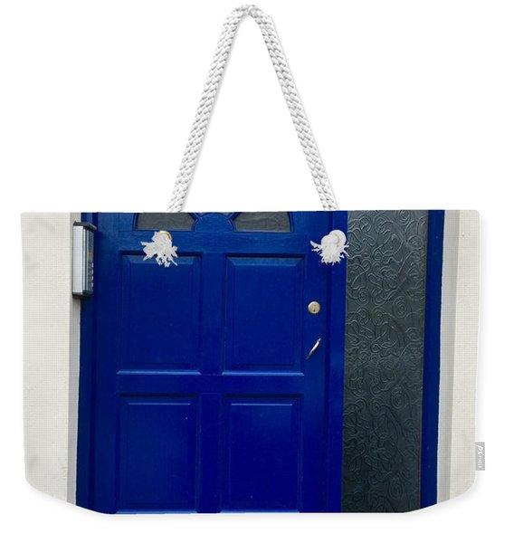 Crooked Blue Door In  Ireland  Weekender Tote Bag