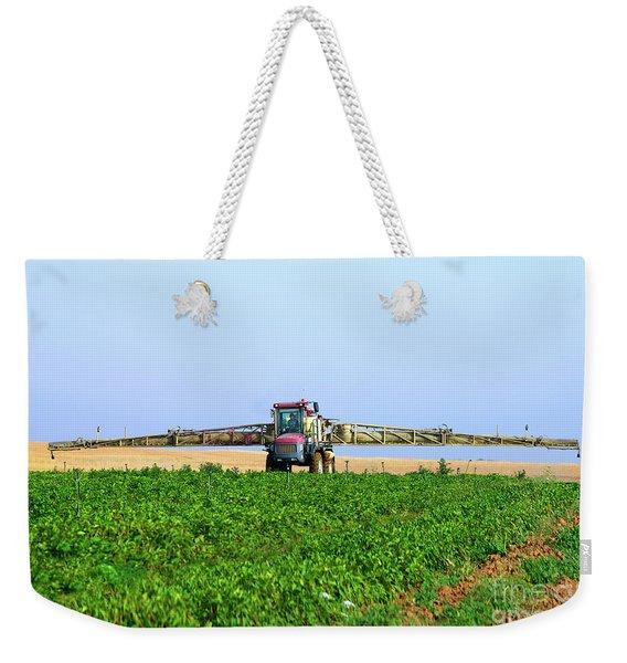 Crop Dusting A Potato Field, Negev Israel 2 Weekender Tote Bag