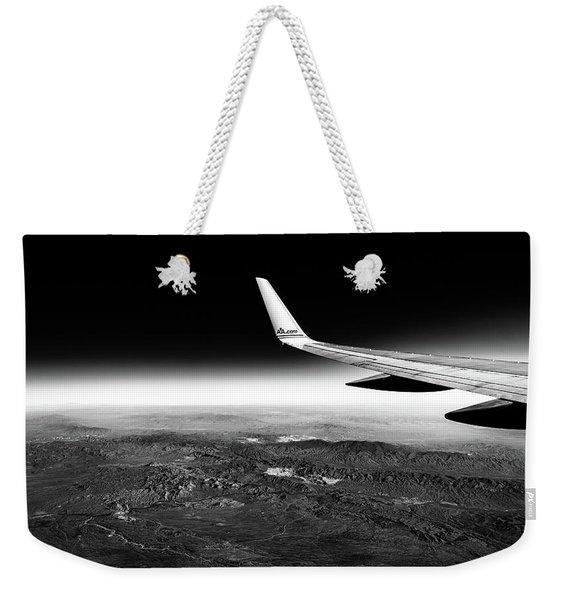 Cross Country Via Outer Space Weekender Tote Bag