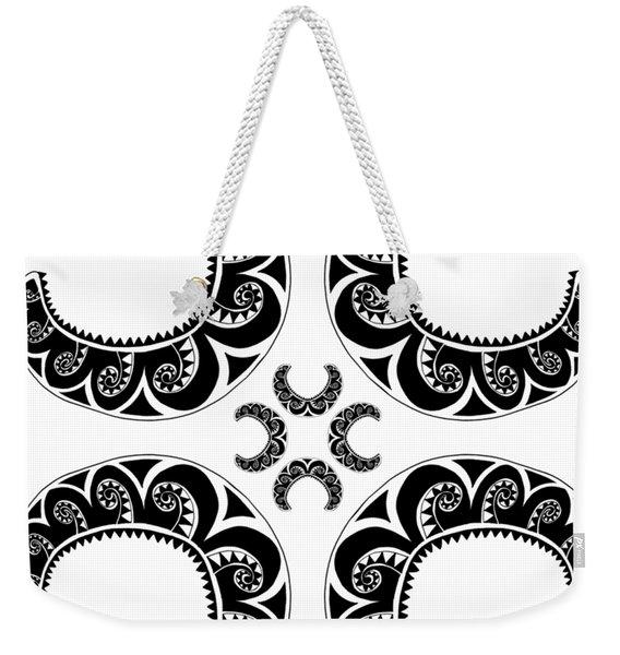 Cross Maori Style Weekender Tote Bag