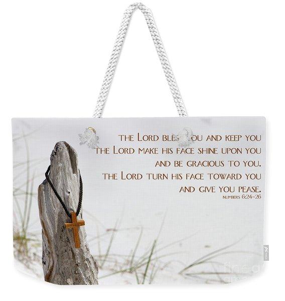 Cross Necklace Weekender Tote Bag
