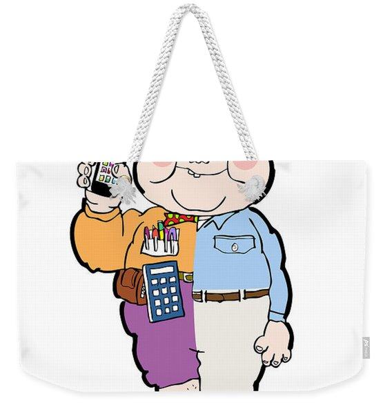 Cross Over To The Geek Side Weekender Tote Bag