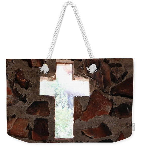 Cross Shaped Window In Chapel  Weekender Tote Bag
