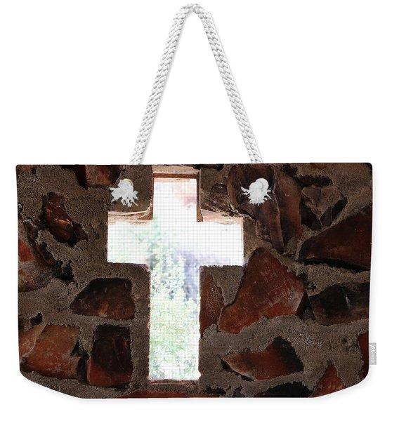 Cross Shaped Window In Chapel  Weekender Tote Bag