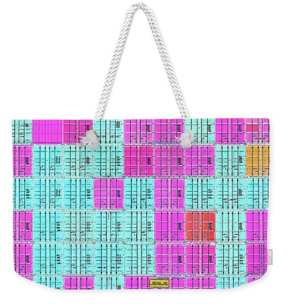 Cross Shipping Weekender Tote Bag