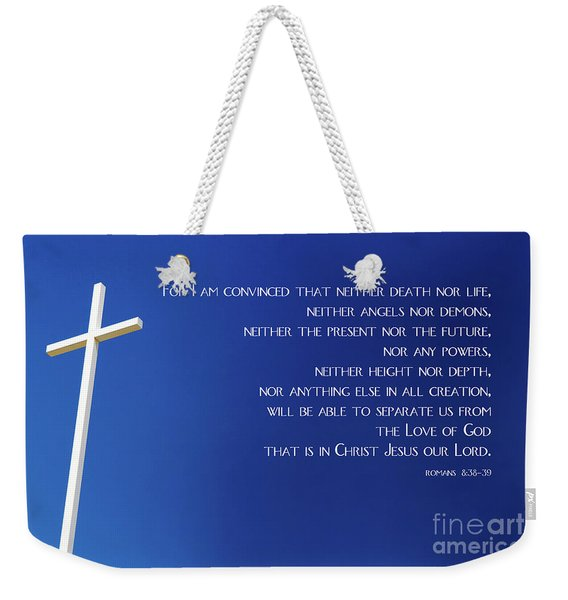 Cross With Blue Sky Weekender Tote Bag