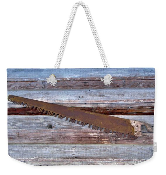 Crosscut Saw Weekender Tote Bag