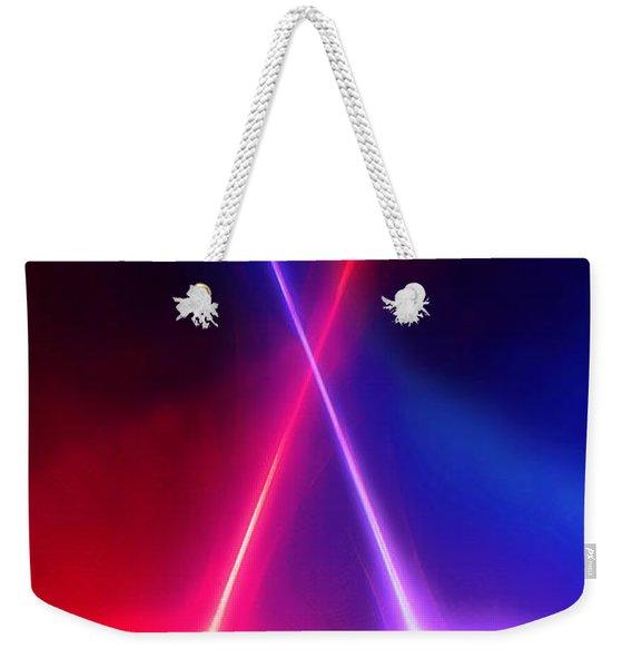 Crossed Light Sabers Weekender Tote Bag