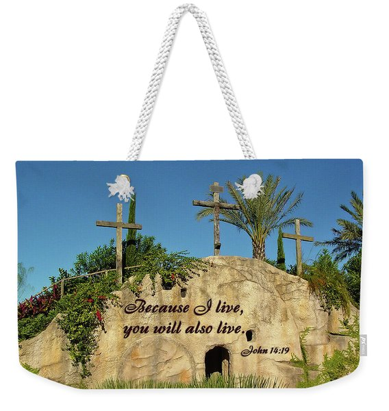 Crosses And Resurrection Weekender Tote Bag