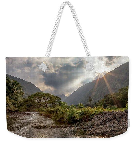 Crossing Hiilawe Stream Weekender Tote Bag