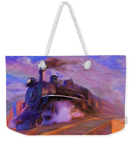 Crossing Rails Weekender Tote Bag