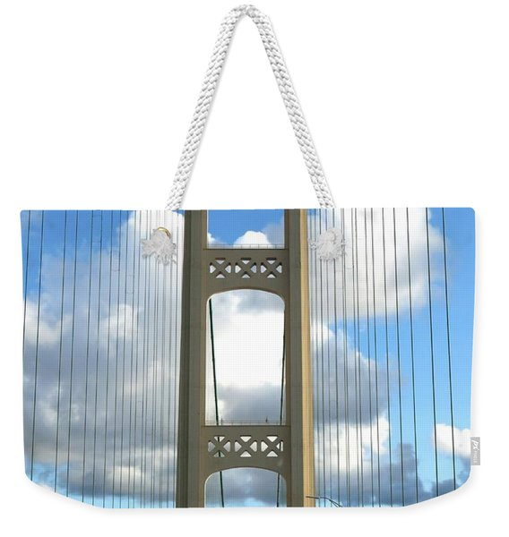 Crossing The Mighty Mac Weekender Tote Bag
