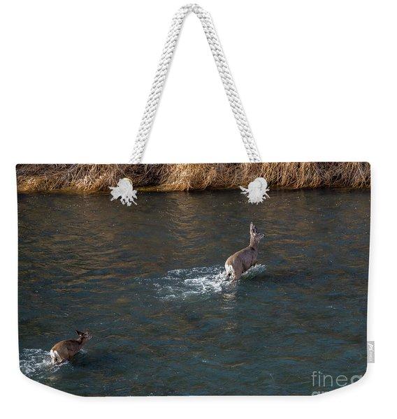 Crossing The River Weekender Tote Bag