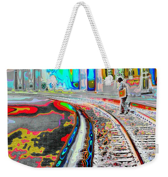 Crossing The Tracks Weekender Tote Bag