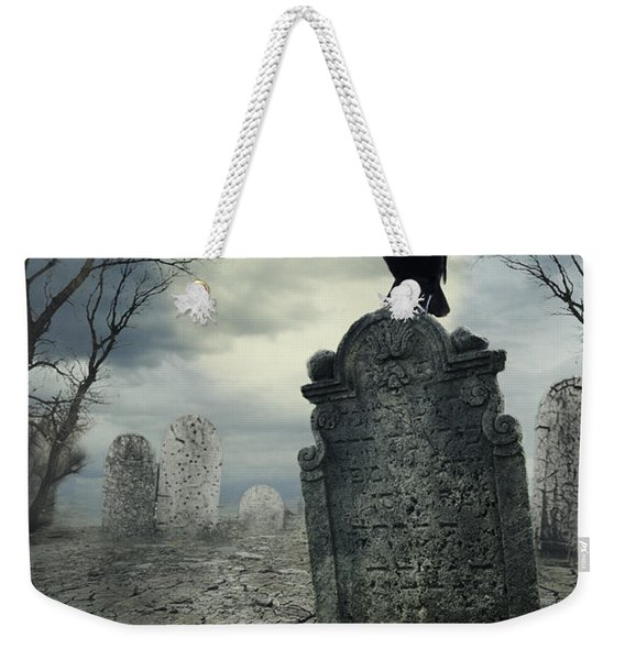 Crow On The Tombstone Weekender Tote Bag