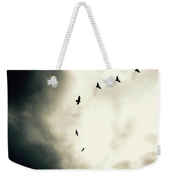 Crows On Christmas Eve 1 Weekender Tote Bag