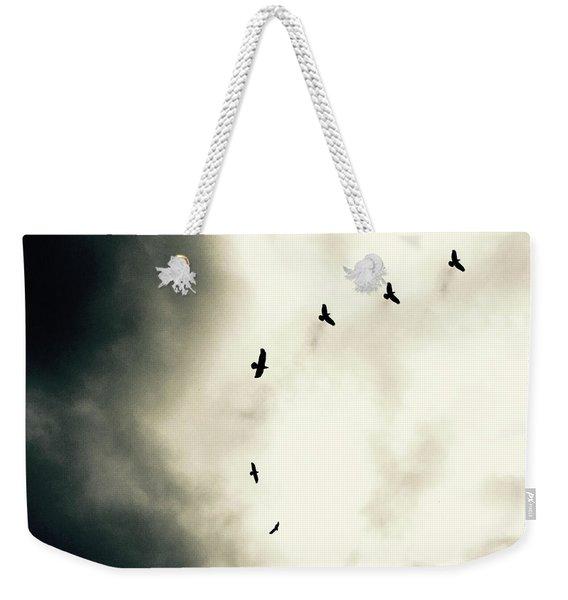 Crows On Christmas Eve 1 Weekender Tote Bag