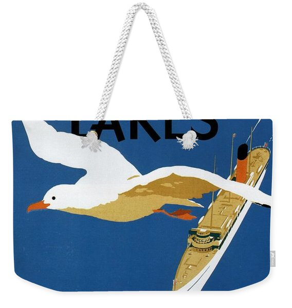Cruise Across The Great Lakes - Canadian Pacific - Retro Travel Poster - Vintage Poster Weekender Tote Bag