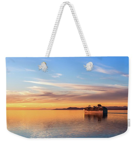 Cruising Into The Sunset Weekender Tote Bag