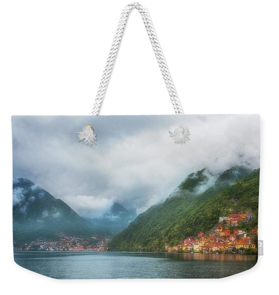 Cruising Lake Como Italy Weekender Tote Bag