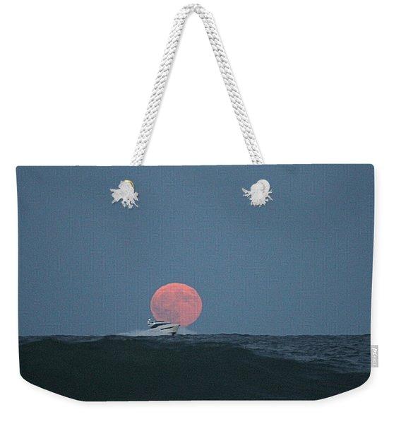 Cruising On A Wave During Harvest Moon Weekender Tote Bag