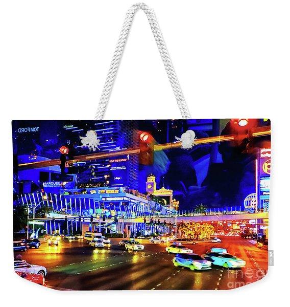 Cruising On The Strip Weekender Tote Bag