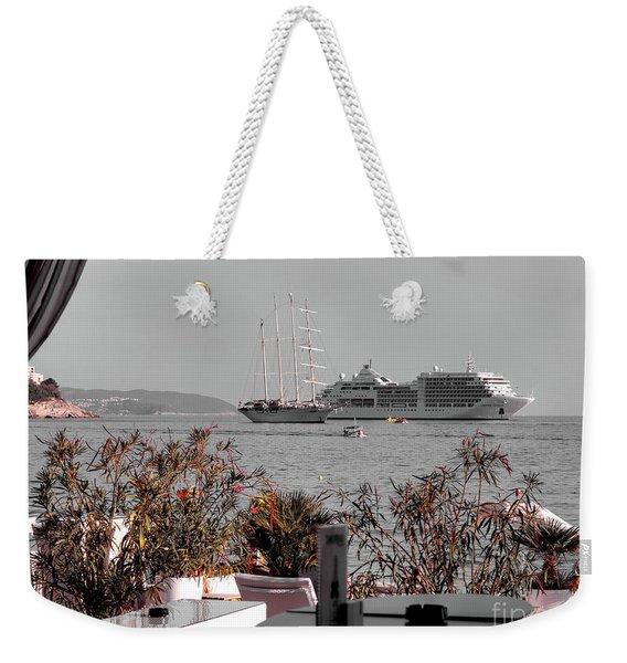 Cruising Past And Present Weekender Tote Bag