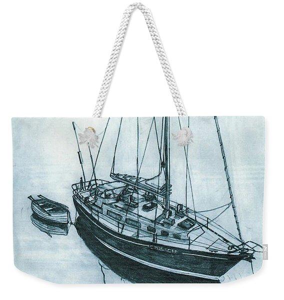 Crusader At Anchor Weekender Tote Bag