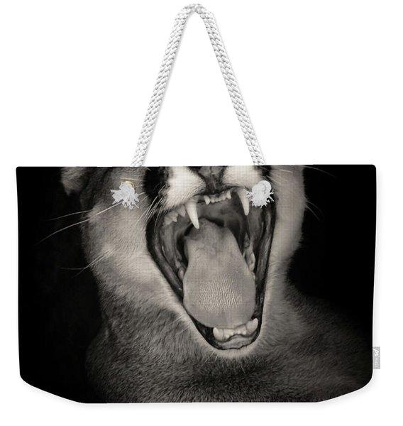 Cruz Yawning Weekender Tote Bag