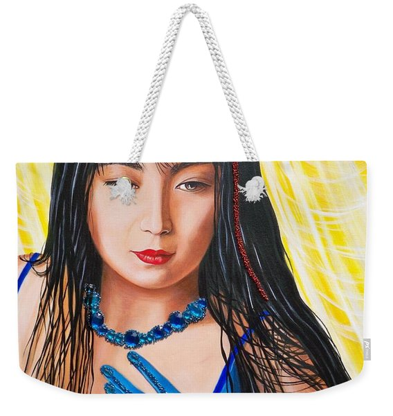 Crystal Blue China Girl            From   The Attitude Girls  Weekender Tote Bag
