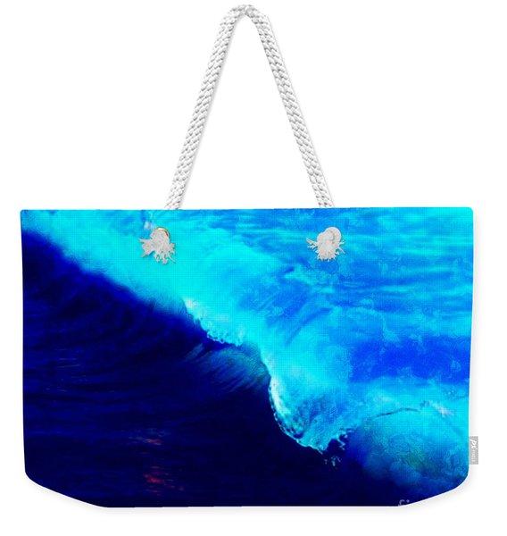 Crystal Blue Wave Painting Weekender Tote Bag