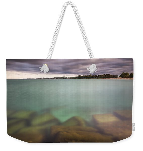 Crystal Clear Lake Michigan Waters Weekender Tote Bag