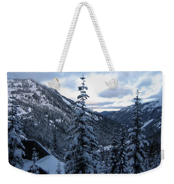 Weekender Tote Bag featuring the photograph Crystal Mountain Dawn by Lorraine Devon Wilke