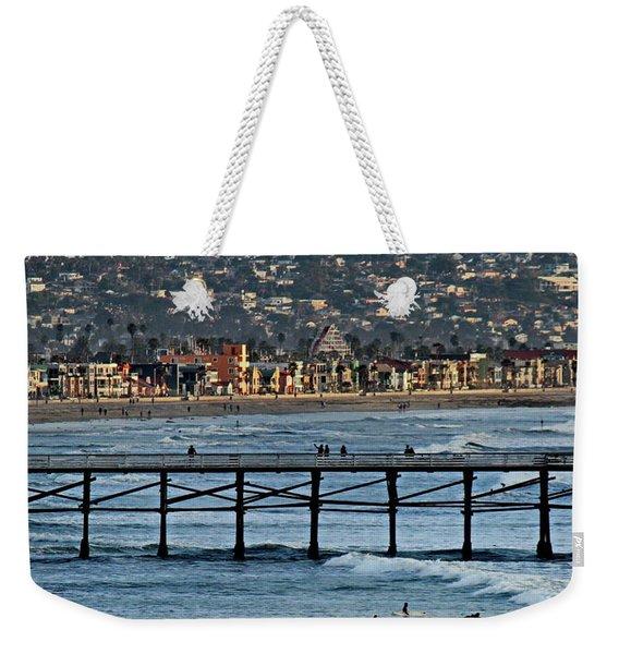 Crystal Pier - Mission Beach - Big Dipper Weekender Tote Bag