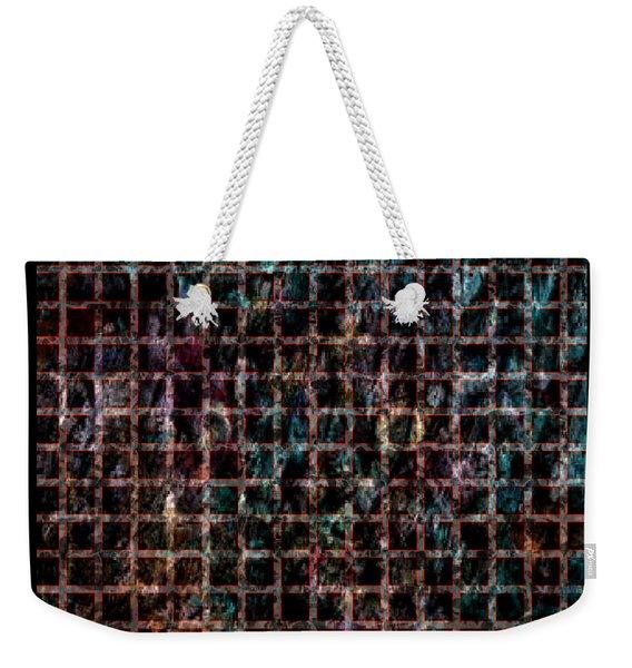 Grid Series 3-4 Weekender Tote Bag