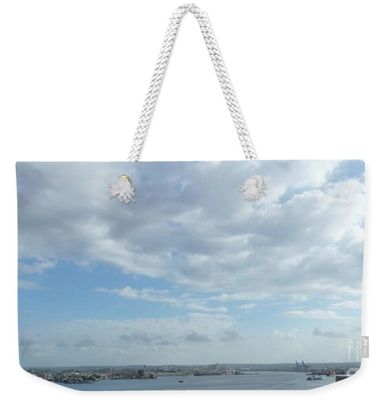 Cuba City And River View Weekender Tote Bag