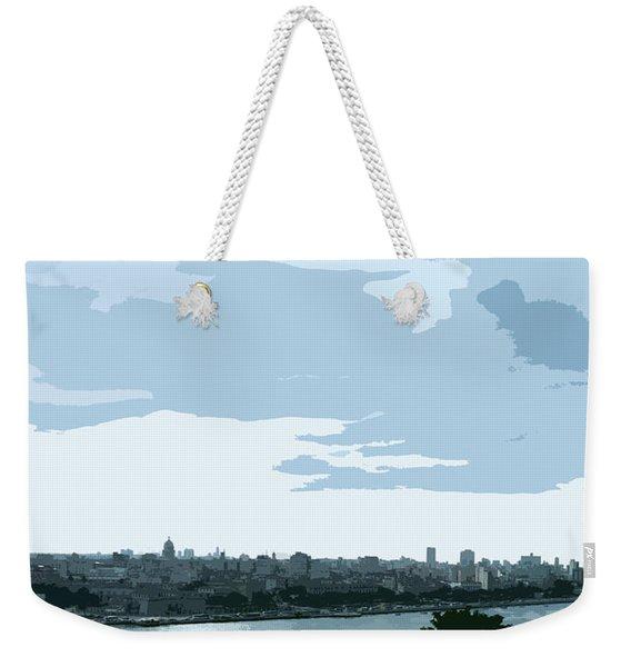 Cuba City And Skyline Art Ed2 Weekender Tote Bag